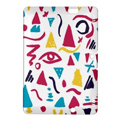 Eye Triangle Wave Chevron Red Yellow Blue Kindle Fire Hdx 8 9  Hardshell Case