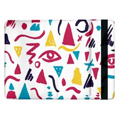 Eye Triangle Wave Chevron Red Yellow Blue Samsung Galaxy Tab Pro 12 2  Flip Case