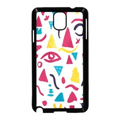 Eye Triangle Wave Chevron Red Yellow Blue Samsung Galaxy Note 3 Neo Hardshell Case (black)