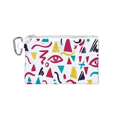 Eye Triangle Wave Chevron Red Yellow Blue Canvas Cosmetic Bag (s)