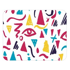 Eye Triangle Wave Chevron Red Yellow Blue Double Sided Flano Blanket (large)