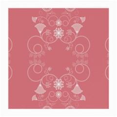Flower Floral Leaf Pink Star Sunflower Medium Glasses Cloth (2 Side)