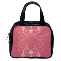 Flower Floral Leaf Pink Star Sunflower Classic Handbags (one Side)