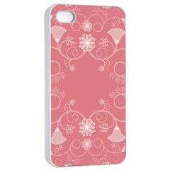 Flower Floral Leaf Pink Star Sunflower Apple Iphone 4/4s Seamless Case (white)