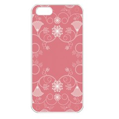 Flower Floral Leaf Pink Star Sunflower Apple Iphone 5 Seamless Case (white)