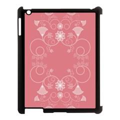 Flower Floral Leaf Pink Star Sunflower Apple Ipad 3/4 Case (black)