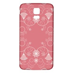 Flower Floral Leaf Pink Star Sunflower Samsung Galaxy S5 Back Case (white)