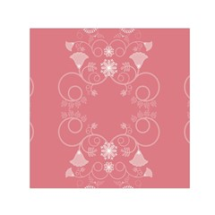 Flower Floral Leaf Pink Star Sunflower Small Satin Scarf (square)