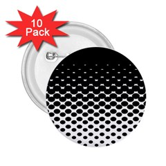 Gradient Circle Round Black Polka 2 25  Buttons (10 Pack)