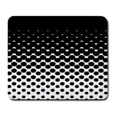 Gradient Circle Round Black Polka Large Mousepads