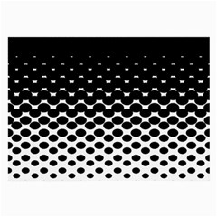 Gradient Circle Round Black Polka Large Glasses Cloth