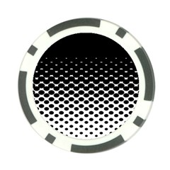 Gradient Circle Round Black Polka Poker Chip Card Guard (10 Pack)