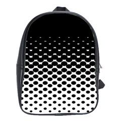 Gradient Circle Round Black Polka School Bag (large)