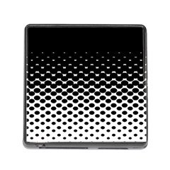Gradient Circle Round Black Polka Memory Card Reader (square)