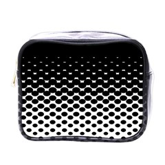 Gradient Circle Round Black Polka Mini Toiletries Bags