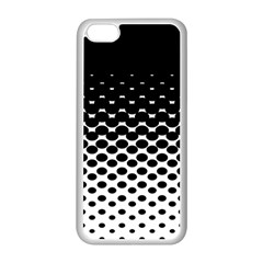 Gradient Circle Round Black Polka Apple Iphone 5c Seamless Case (white)