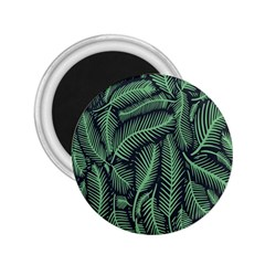 Coconut Leaves Summer Green 2 25  Magnets