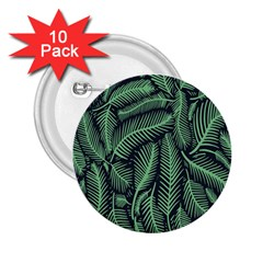Coconut Leaves Summer Green 2 25  Buttons (10 Pack)