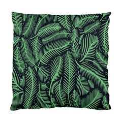 Coconut Leaves Summer Green Standard Cushion Case (two Sides)