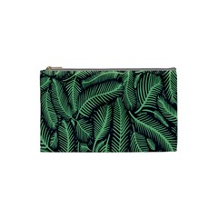 Coconut Leaves Summer Green Cosmetic Bag (small)