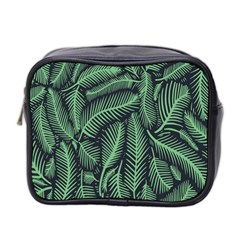 Coconut Leaves Summer Green Mini Toiletries Bag 2 Side