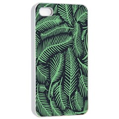 Coconut Leaves Summer Green Apple Iphone 4/4s Seamless Case (white)