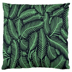 Coconut Leaves Summer Green Large Cushion Case (one Side)