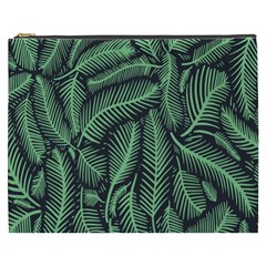 Coconut Leaves Summer Green Cosmetic Bag (xxxl)