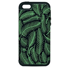 Coconut Leaves Summer Green Apple Iphone 5 Hardshell Case (pc+silicone)