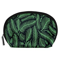 Coconut Leaves Summer Green Accessory Pouches (large)