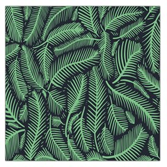 Coconut Leaves Summer Green Large Satin Scarf (square)