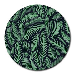Coconut Leaves Summer Green Round Mousepads