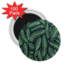 Coconut Leaves Summer Green 2 25  Magnets (100 Pack)