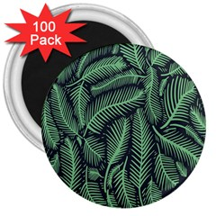 Coconut Leaves Summer Green 3  Magnets (100 Pack)