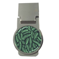 Coconut Leaves Summer Green Money Clips (round)