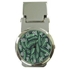 Coconut Leaves Summer Green Money Clip Watches