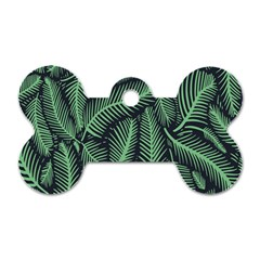 Coconut Leaves Summer Green Dog Tag Bone (two Sides)