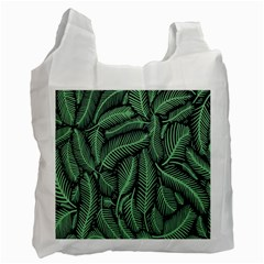 Coconut Leaves Summer Green Recycle Bag (two Side)