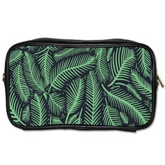 Coconut Leaves Summer Green Toiletries Bags