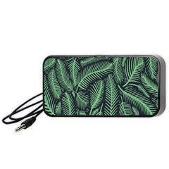 Coconut Leaves Summer Green Portable Speaker (black)