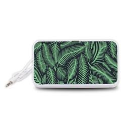 Coconut Leaves Summer Green Portable Speaker (white)