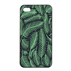 Coconut Leaves Summer Green Apple Iphone 4/4s Seamless Case (black)