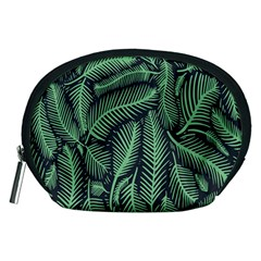 Coconut Leaves Summer Green Accessory Pouches (medium)