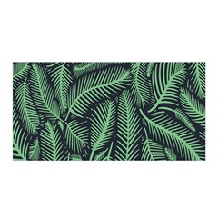 Coconut Leaves Summer Green Satin Wrap