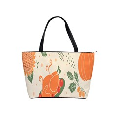Happy Thanksgiving Chicken Bird Flower Floral Pumpkin Sunflower Shoulder Handbags