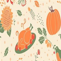Happy Thanksgiving Chicken Bird Flower Floral Pumpkin Sunflower Magic Photo Cubes