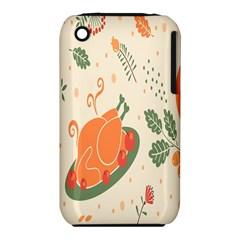 Happy Thanksgiving Chicken Bird Flower Floral Pumpkin Sunflower Iphone 3s/3gs