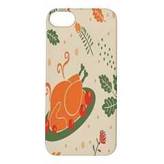 Happy Thanksgiving Chicken Bird Flower Floral Pumpkin Sunflower Apple Iphone 5s/ Se Hardshell Case
