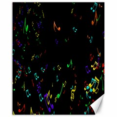 Colorful Music Notes Rainbow Canvas 16  X 20