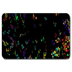 Colorful Music Notes Rainbow Large Doormat